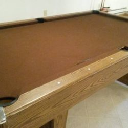 8' pool table & extras